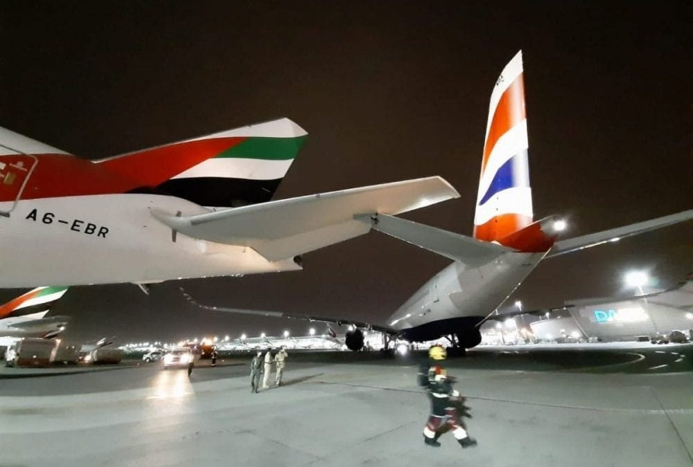 british-airways-a350-collides-with-emirates-777-at-dubai-international