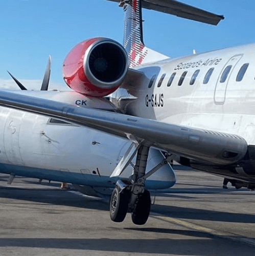 Flybe Dash 8 Lifts Loganair ERJ145 Off The Ground