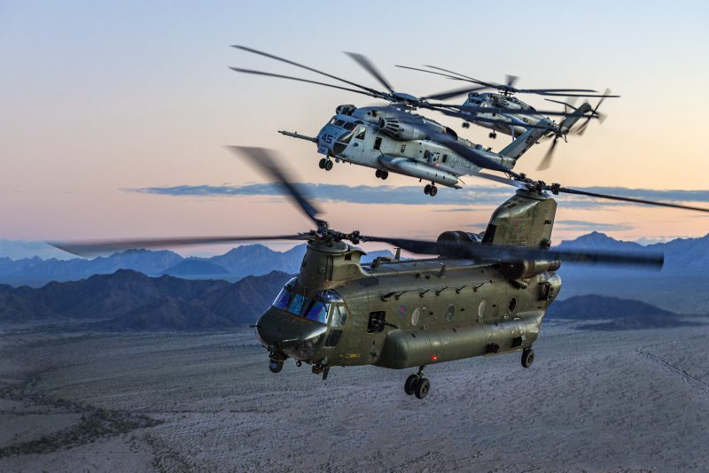 RAF Chinook Helicopter Makes Emergency Landing