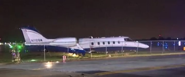 Business Jet Slid Off Runway at Chicago Executive Airport