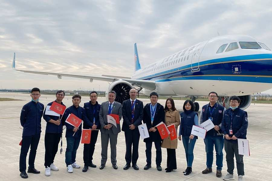 500th Airbus A320-Family Jet Built in China Delivered