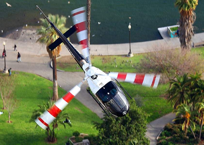 Drone Crash With Police Helicopter in Los Angeles
