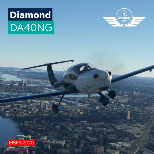 Diamond DA40NG Livery – Mentour Pilot Livery