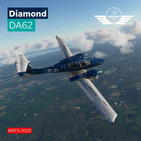Diamond DA62 – Mentour Pilot Livery