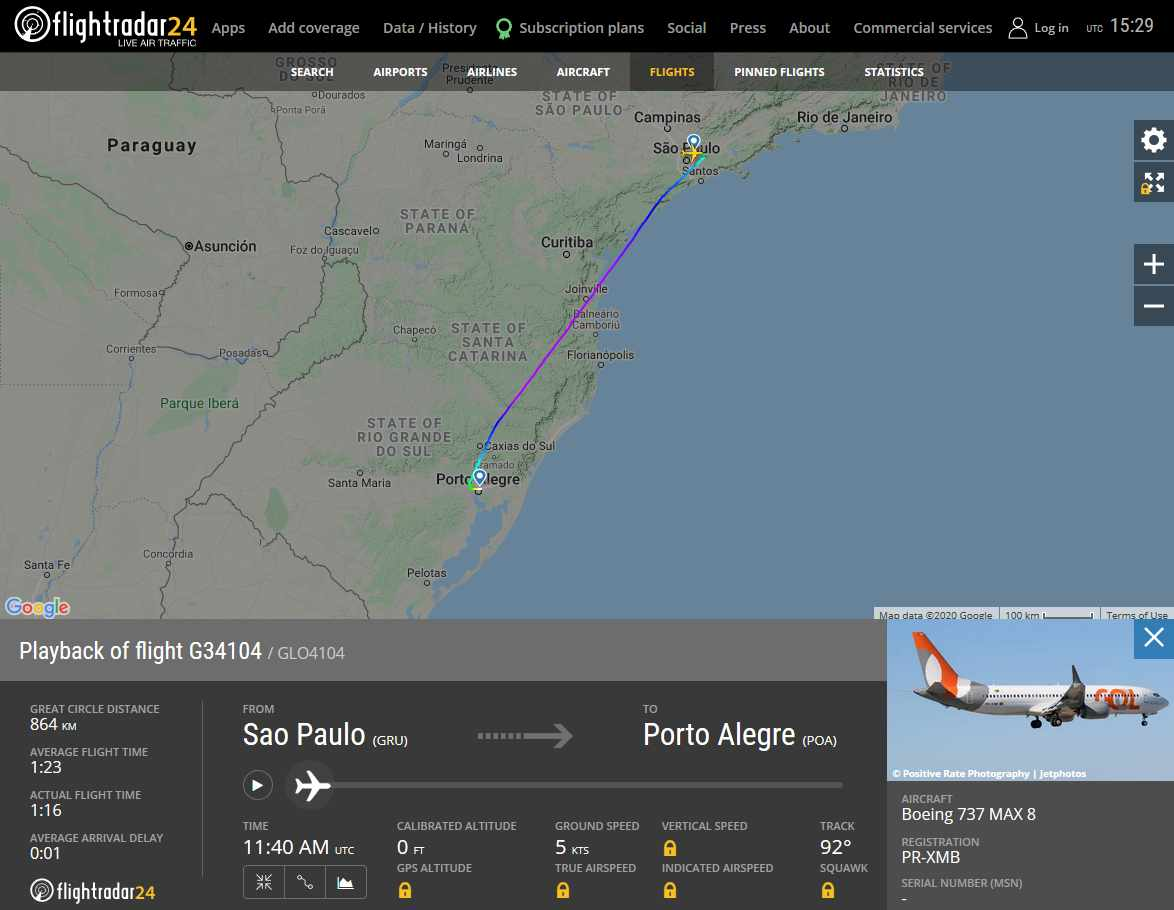 And The Winner Is… GOL! First MAX Commercial Flight