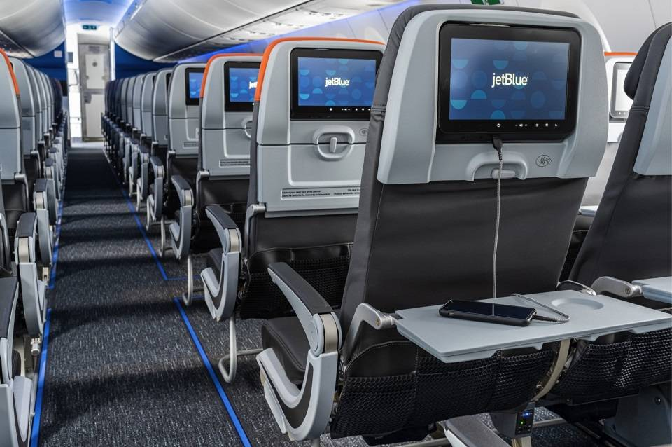 JetBlue Reveals A220 Cabin In All Its Glory