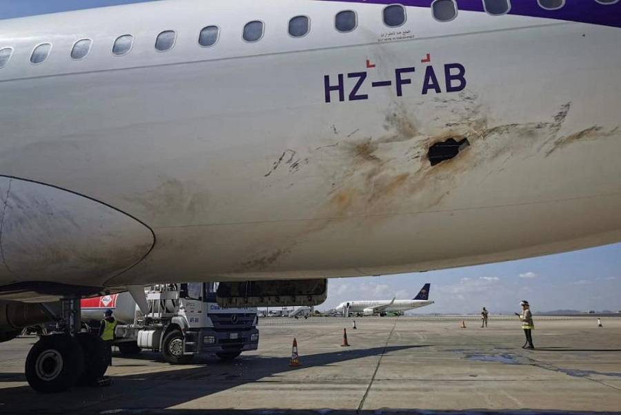 Houthi Drone Attack On Saudi Airport Damages Airliner