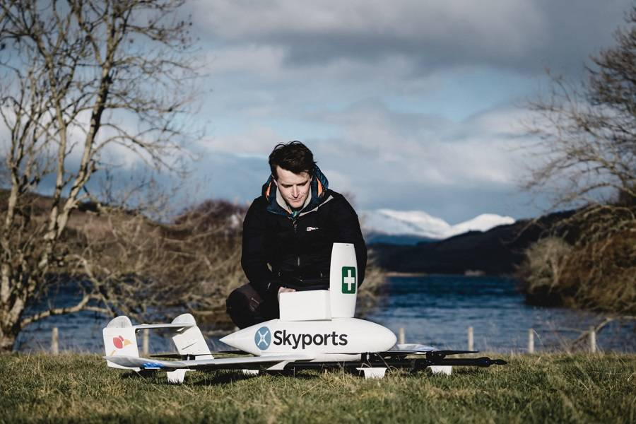 NHS Scotland – Drones Carry Tests & Covid-19 Samples!