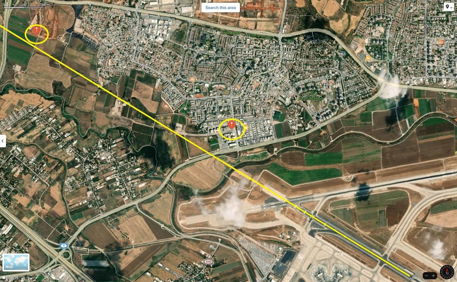 Construction Crane Closes Runway In Tel Aviv!