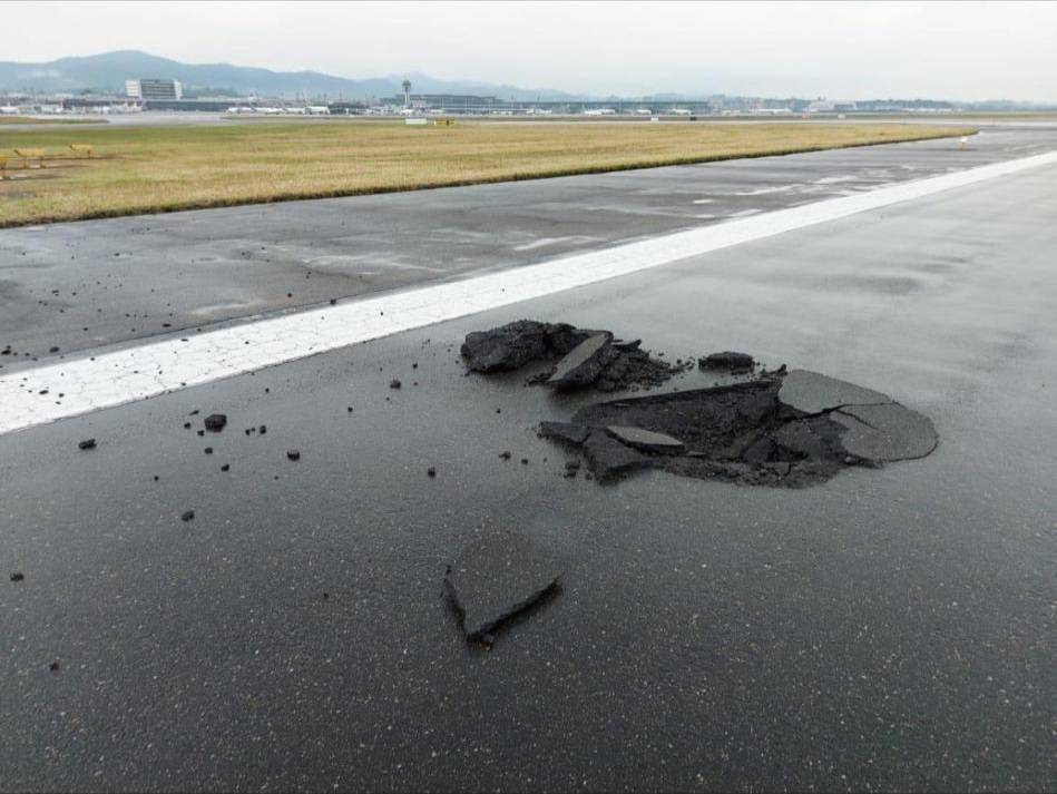 Lightning Strike Burns Crater In São Paolo Runway!