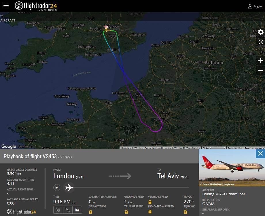 ACCIDENT: Virgin Atlantic Captain Injury From Laser
