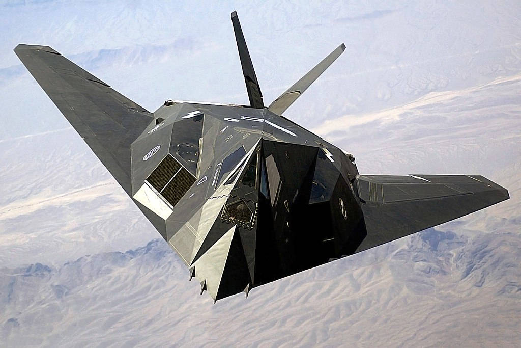 The Lockheed F-117 Stealth Fighter, designed to confuse radar