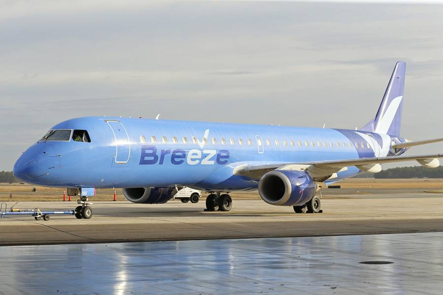 They're Off: Breeze Airways Starts Commercial Flights!