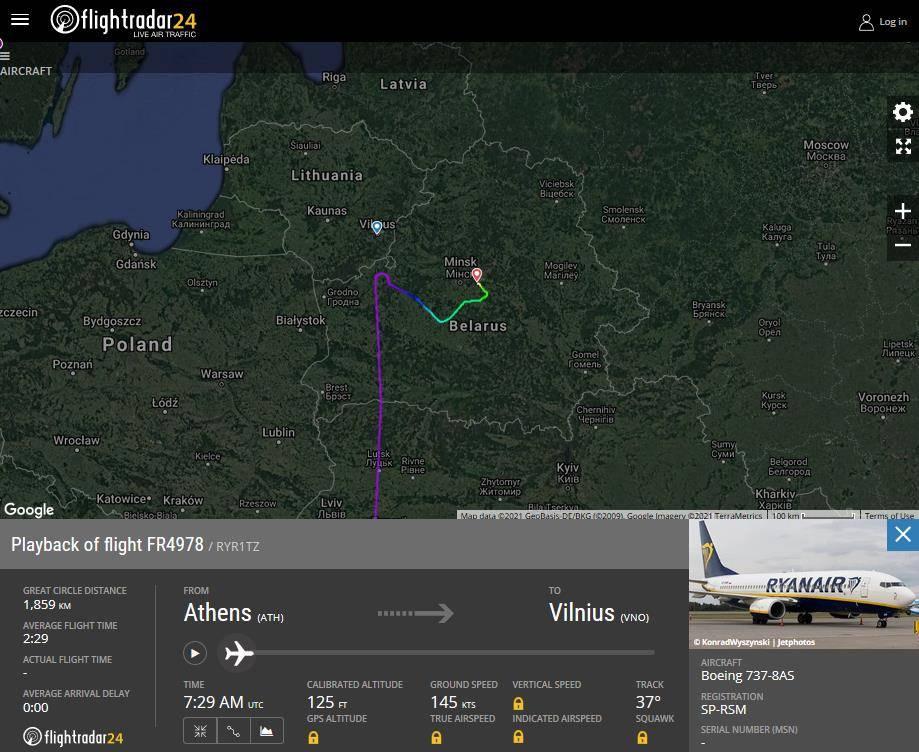 Belarus Forced Flight To Land, Arrests Journalist On Board