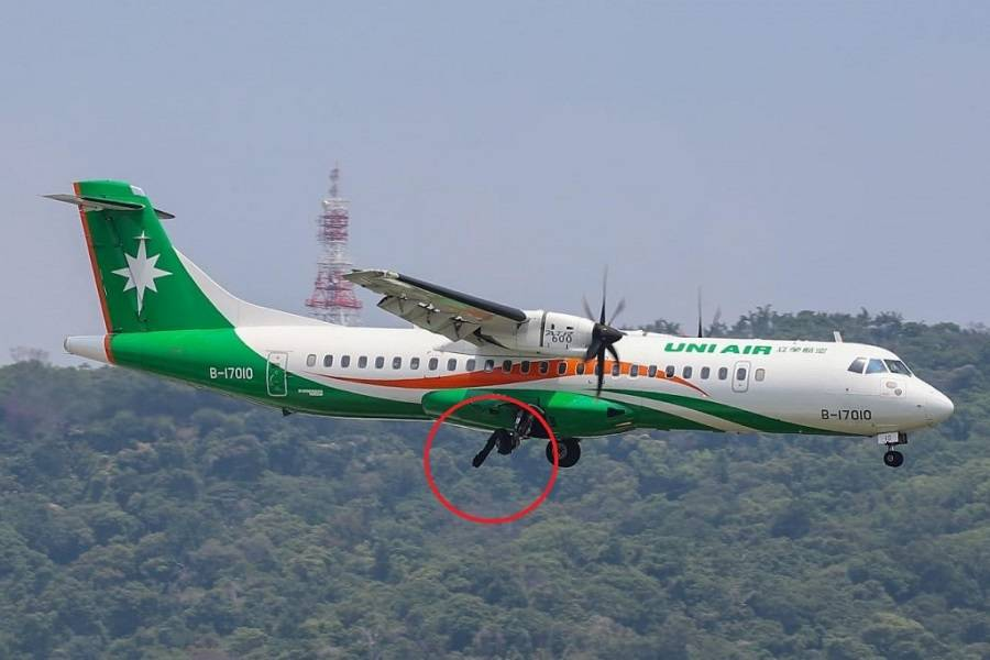 UNI Air ATR-72 Lands With Two Burst Tyres!