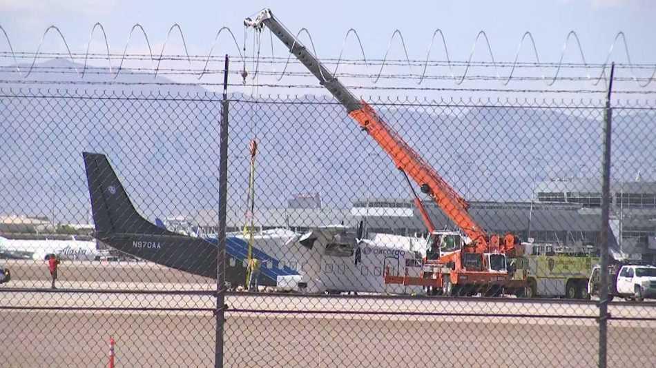 Accident: Cargo Plane Makes Belly Landing In Las Vegas