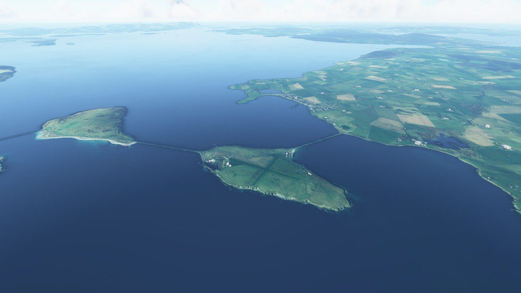 Lamb Holm island in Orkney (simulated image)