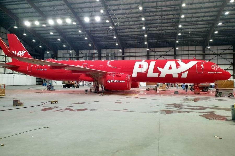 Revealed: The First PLAY Airbus In The Paint Shop!