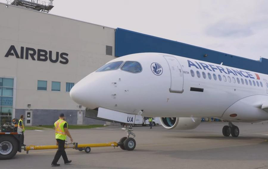First Air France A220-300 Emerges From Paint Shop