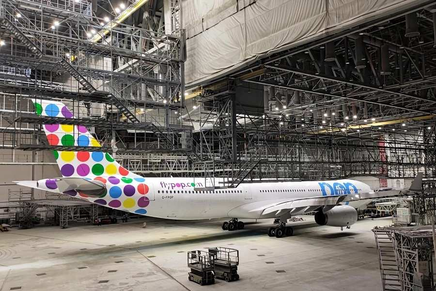First Flypop A330 Shows Off Livery