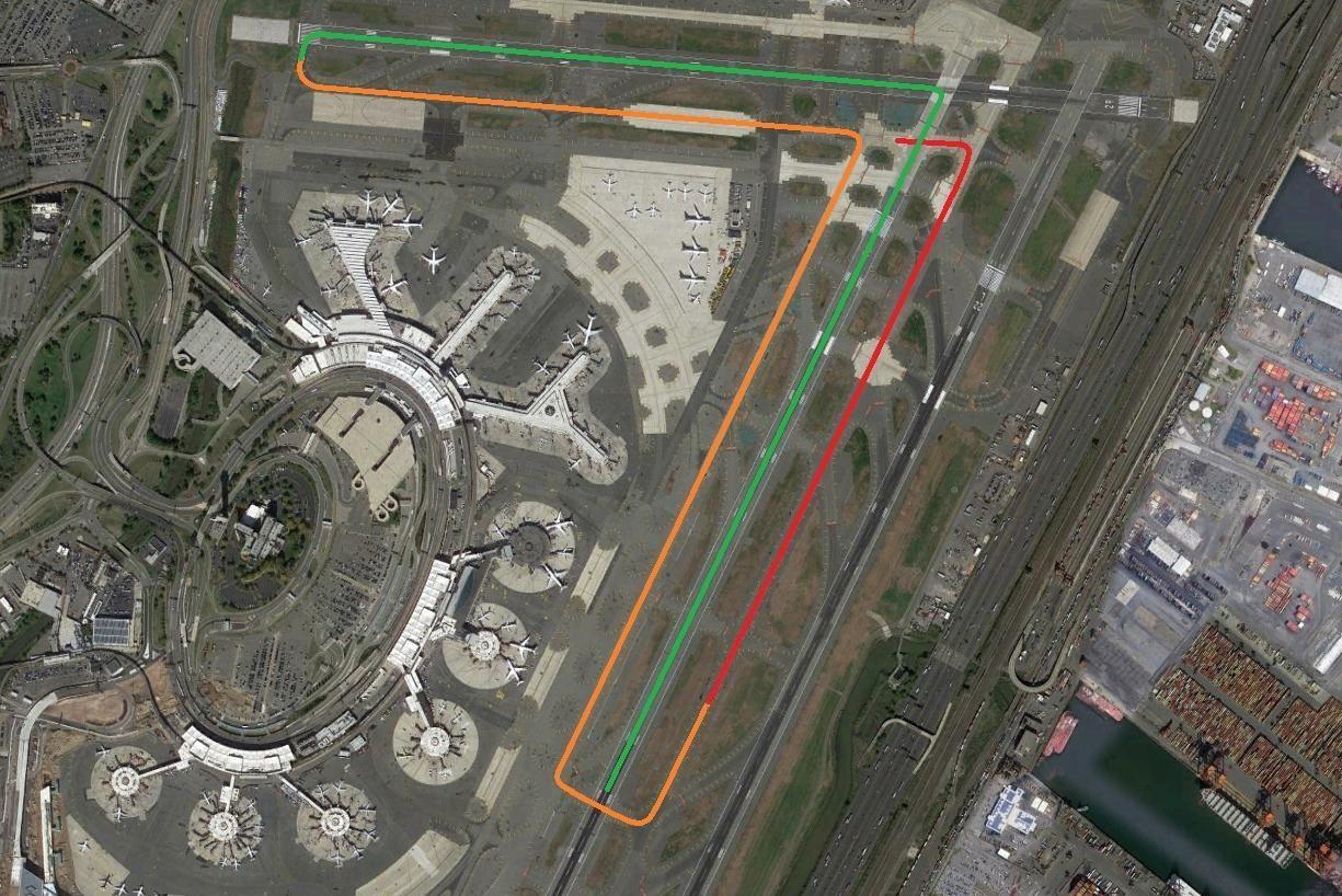 INCIDENT: A330 Nearly Takes Off From Taxiway Newark!