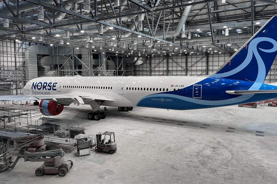 First Norse Atlantic 787 Revealed In Paint Shop