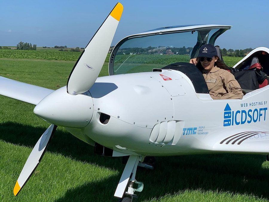 Woman Starts Youngest Around The World Solo Flight!