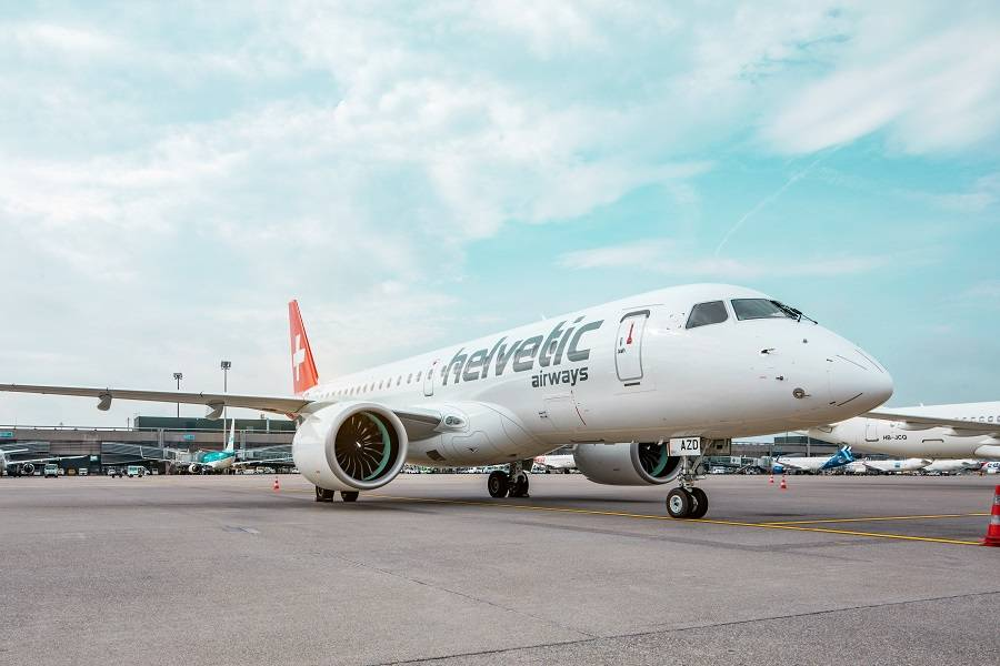 First E190-E2 Commercial Flight Lands At London City